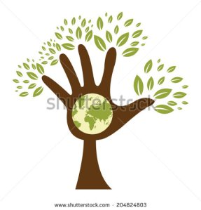 stock-photo-the-brown-hand-tree-with-earth-sign-inside-isolated-on-white-background-204824803